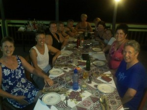 Wining and dining Samoan style.