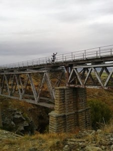 Atop the Poolburn Viaduct.