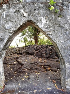 A view of the lava inside the church.