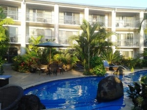 Our lovely upmarket accommodation, Amanaki, in Apia where we stayed for 2 nights.