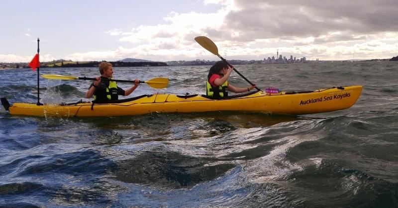 Sunset Kayak to Rangitoto Island – Dec 2014