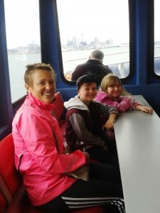 Catching the ferry from Devonport, then the train from Britomart right out to South Auckland.