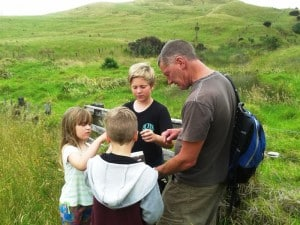 Geocashing, (treasure hunting using a phone app.)
